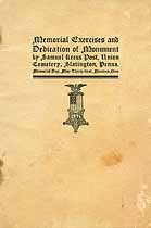 Thumbnail image of Memorial Exercises and Dedication of Monument 1909 cover