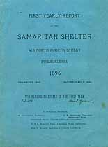 Thumbnail image of Philadelphia Samaritan Shelter 1896 Report cover
