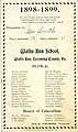 Thumbnail image of Wallis Run School 1898-1899 Souvenir Card cover