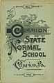 Thumbnail image of Clarion State Normal School 1894-5 Catalogue cover