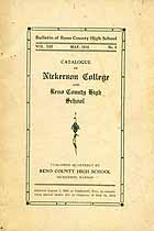 Thumbnail image of Nickerson College and Reno County High 1916 Catalogue cover