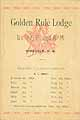 Thumbnail image of Golden Rule Lodge, No. 77, F. & A.M. 1891 Members cover
