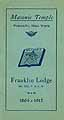 Thumbnail image of Franklin Lodge, No. 562, F. & A. M. 1917 Roster cover