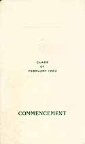 Thumbnail image of Germantown High School 1923 Commencement cover