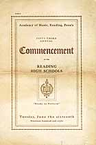 Thumbnail image of Reading High Schools 1908 Commencement cover