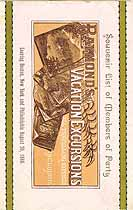 Thumbnail image of Yellowstone National Park 1888 Excursion cover