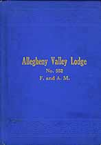 Thumbnail image of Allegheny Valley Lodge No. 552, 1915 Roster cover