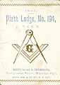 Thumbnail image of Piatt Lodge, F. & A. M. 1893 cover