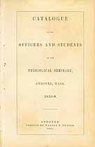 Thumbnail image of Andover Theological Seminary 1858 Catalogue cover