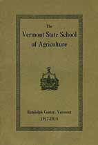 Thumbnail image of Vermont School of Agriculture 1917-18 Catalogue cover