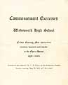 Thumbnail image of Wadsworth High 1912 Commencement cover