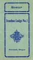 Thumbnail image of Ivanhoe Lodge No. 1 K. of P. 1906 Roster cover
