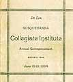 Thumbnail image of Susquehanna Collegiate Institute 1894 Commencement cover