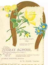 Thumbnail image of Gray School Summer Term 1897 Souvenir cover