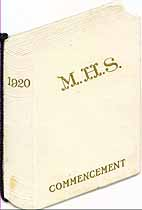 Thumbnail image of Monticello High School 1920 Commencement cover