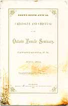 Thumbnail image of Ontario Female Seminary 1871 Catalogue cover