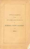 Thumbnail image of Kimball Union Academy 1863-4 Catalogue cover