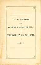 Thumbnail image of Kimball Union Academy 1858-9 Catalogue cover