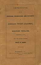 Thumbnail image of Kimball Union Academy 1843 Catalogue cover