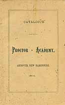 Thumbnail image of Proctor Academy 1889-90 Catalogue cover