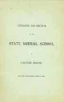 Thumbnail image of State Normal School 1895 Catalogue and Circular cover