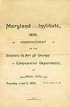 Thumbnail image of Maryland Inst. of Art/Design/Comm 1896 Graduation cover