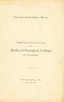 Thumbnail image of Medico-Chirurgical College 1889 Commencement cover