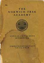 Thumbnail image of Norwich Free Academy 1914-1915 Catalogue cover