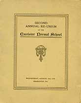 Thumbnail image of Excelsior Normal School 1916 Reunion cover