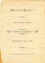 Thumbnail image of Univ. of Rochester 1889 Commencement cover