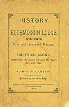 Thumbnail image of Eggemoggin Lodge, No. 128, F. and A. M. 1892 Members cover