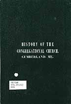 Thumbnail image of History of the Congregational Church cover