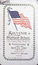 Thumbnail image of Highland School 1900 Souvenir cover