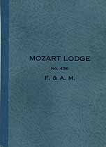Thumbnail image of Mozart Lodge, No. 436, F. & A. M. 1924 Members cover
