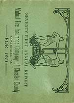 Thumbnail image of Chester Co. Mutual Fire Ins. 1911 Report cover