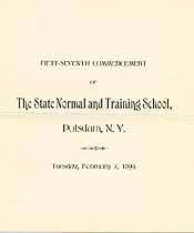 Thumbnail image of State Normal and Training School 57th Commencement cover