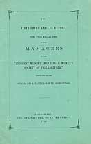 Thumbnail image of Indigent Widows' Society of Philadelphia 1870 Report cover