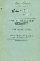Thumbnail image of Wisconsin Historical Society 1879 Report cover