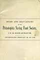 Thumbnail image of Philadelphia Saving Fund Society 1892 Managers cover