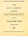 Thumbnail image of Norwalk High School 1927 Commencement cover