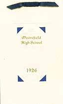 Thumbnail image of Moorefield High School 1926 Commencement cover