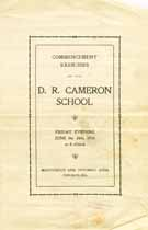 Thumbnail image of D. R. Cameron School 1910 Commencement cover