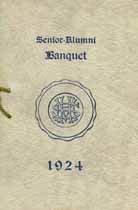 Thumbnail image of Mansfield High School 1924 Senior-Alumni Banquet cover