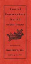 Thumbnail image of Tancred Commandery, No. 25 K. T. 1907 Membership cover