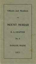 Thumbnail image of Mt. Moriah R. A. Chapter No. 6 Members 1921 cover