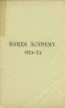 Thumbnail image of Barre Academy 1872-73 Catalogue cover