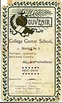 Thumbnail image of College Corner School 1897-1898 Souvenir cover