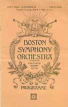 Thumbnail image of Boston Symphony Orchestra 1921 Programme cover