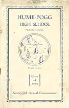 Thumbnail image of Hume-Fogg High School 1929 Commencement cover