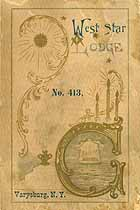Thumbnail image of West Star Lodge, No. 413, Members for 1898 cover
